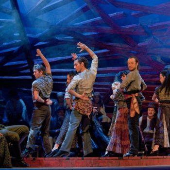 "A scene from Act II of Bizet's ""Carmen.""  Photo: Ken Howard/Metropolitan Opera  Taken at the Metropolitan Opera during the dress rehearsal on December 28, 2009."