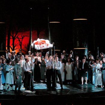 """A scene from Act I in verdi's """"Macbeth."""" Photo: Ken Howard/Metropolitan Opera"""