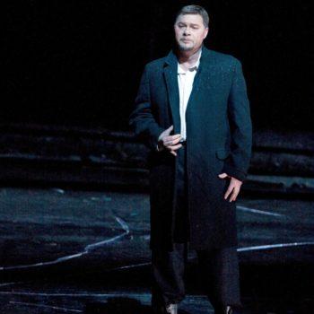 "Rene Papé as Banquo in Verdi's ""Macbeth.""  Photo: Marty Sohl/Metropolitan Opera   Taken during the May 9, 2008 performance at The Metropolitan Opera House in New York City."